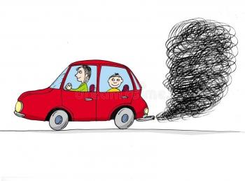 kreskówka-samochodowy-dym-24680972